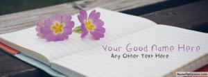 Beautiful Purple Flower Notebook Name Cover
