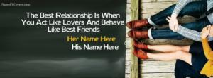Best Relationship Love Facebook Cover Photos With Name