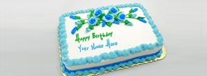 Birthday Green Blue Cake