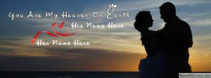 Couple Making Love Name Facebook Cover