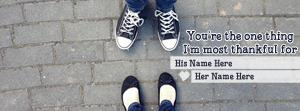 Couple Shoes Name Facebook Cover