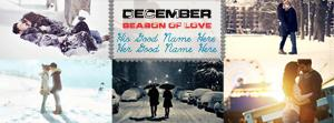 December Love Name Facebook Cover