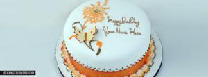 Floral Icecream Birthday Cake