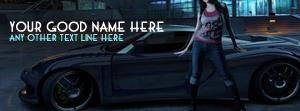 Girl and Car Name Cover