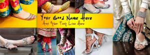Girly Shoes Name Facebook Cover