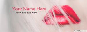 Gorgeous Red Lips Name Facebook Cover