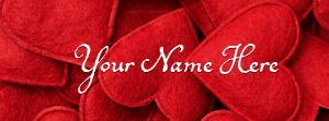 Handmade Hearts Name Cover