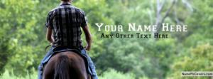 Horse Riding Guy Name Cover