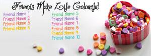 10 Friends Colourful Name Facebook Cover
