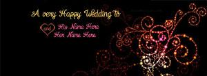 A very Happy Wedding Name Facebook Cover