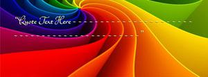 Abstract Rainbow Name Facebook Cover