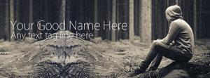 Alone Boy in Forest Name Facebook Cover