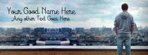 Alone Boy on Top Name Facebook Cover