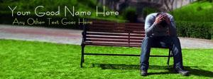Alone Depressed Boy Name Facebook Cover