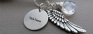 Angel Wing Necklace Name Facebook Cover