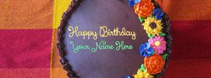 Awesome Flower Birthday Cake Name Facebook Cover