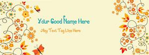 Beautiful Floral Name Facebook Cover