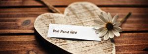 Beautiful Heart and Flower Name Facebook Cover