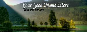 Beautiful Lake Name Facebook Cover