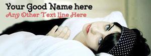 Beautiful Modern Girl Name Facebook Cover