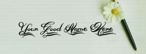 Beautiful Pen Art Name Facebook Cover