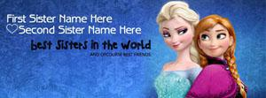 Best Sisters Friendship Name Facebook Cover