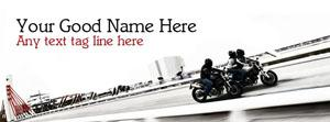 Dashing Biker Boys Name Facebook Cover
