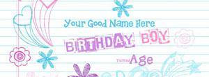 Birthday Boy Name Facebook Cover