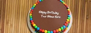 Birthday Chocolate Bunties Cake Name Facebook Cover
