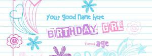 Birthday Girl Name Cover