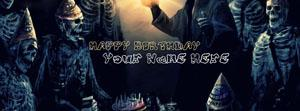 Birthday  Horror Mode Name Facebook Cover