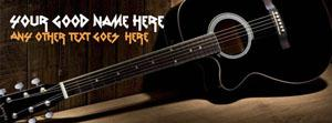 Black Guitar Name Facebook Cover