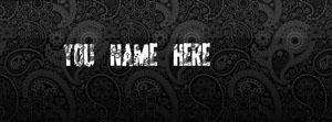 Black Pattern Name Facebook Cover