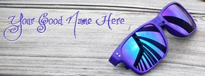 Blue Dashing Sun Glasses Name Cover