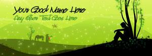 Boy Lonely Art Name Facebook Cover