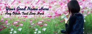 Camera Girl Name Facebook Cover