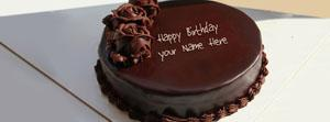 Chocolate Cake for Birthday Name Cover