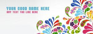 Colorful Floral Art Name Cover