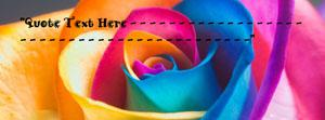 Colorful Rose Name Facebook Cover