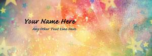 Colorful Stars Name Facebook Cover