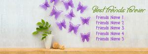 Cute Best Friends Forever Name Facebook Cover