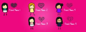 Cute Girls Best Friends Name Cover