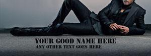 Dashing Guy Name Facebook Cover
