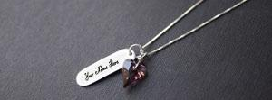Diamond Heart Necklace Name Facebook Cover