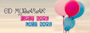 Eid ul Fitr Greetings Name Cover