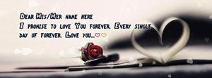 Every single day of forever Name Facebook Cover