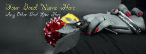 Flowers in Girl Hands Name Cover