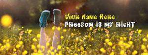 Freedom is my right Name Facebook Cover
