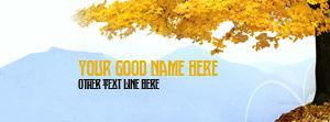 Fun Filled Autumn Name Facebook Cover