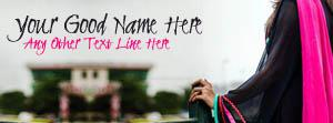 Girl in Black and Pink Name Cover